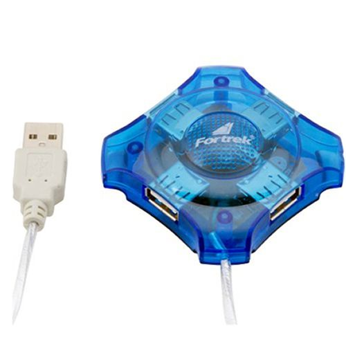 Hub 4 Portas Fortrek USB Azul HBU401 51922