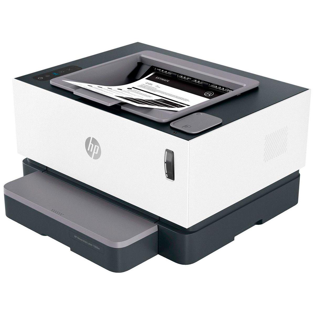 Impressora HP Neverstop Laser Mono 1000W, Monovolt, Tanque de Toner, Wi-Fi - 4RY23A - 110V