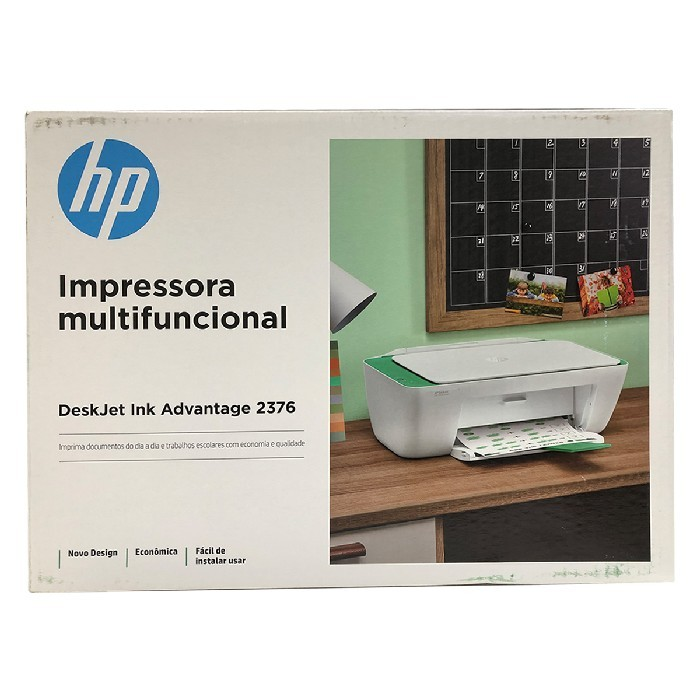 Impressora Multifuncional HP Deskjet Ink Advantage 2376,  USB 2.0, Colorida, Bivolt - 7WQ02A