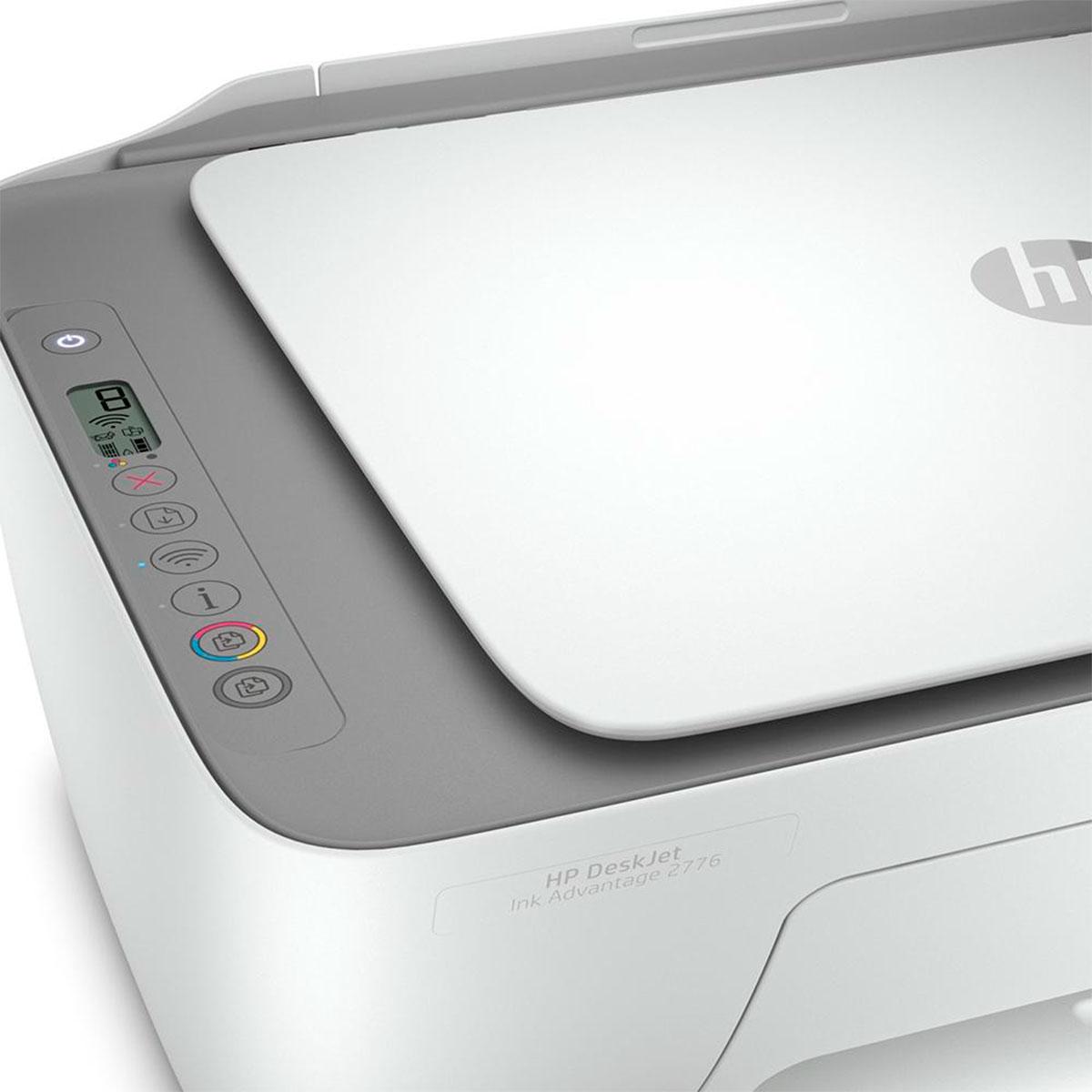Impressora Multifuncional HP Deskjet Ink Advantage 2776 Colorida Wi-Fi Bivolt - 7FR20A