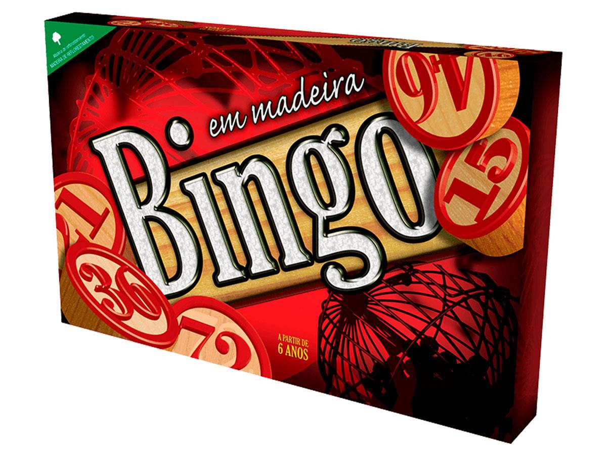 Jogo Bingo Em Madeira Pais e Filhos - 2806
