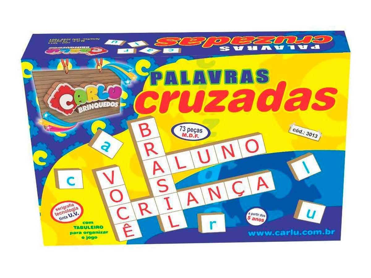 Jogo de Palavras Cruzadas, Contém 73 Peças em M.D.F., Carlu - 3013