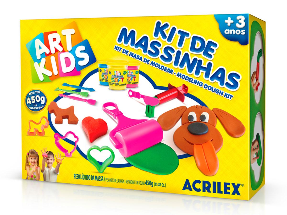 Kit de Massinhas 4, 450g - Acrilex