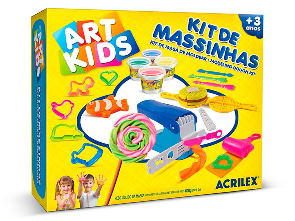 Kit de Massinhas 6, 600g - Acrilex