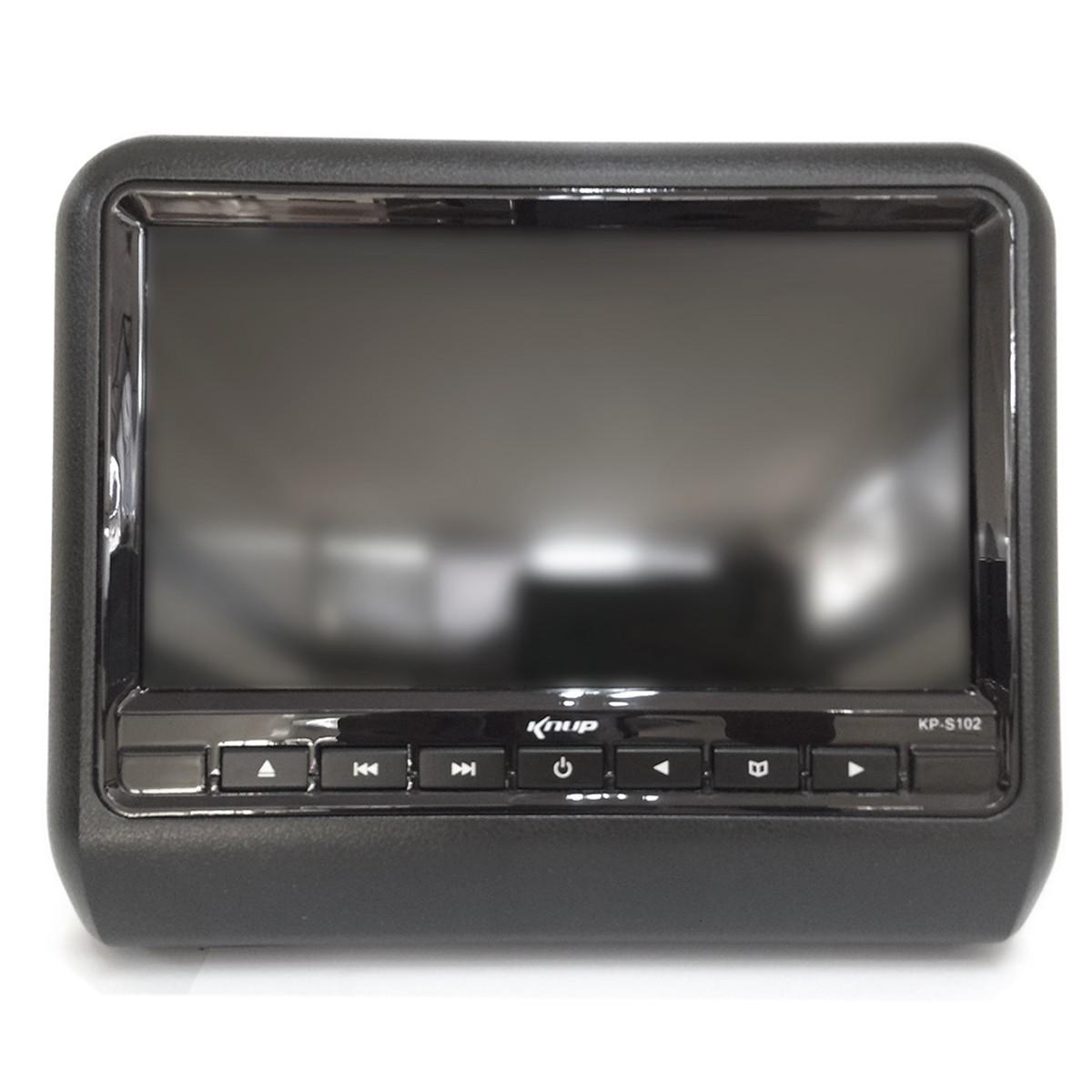 "Kit DVD Automotivo Knup KP-S102 C/ 2 Telas de 9"" TFT LED RGB 800X480 (SEMI-NOVO)"