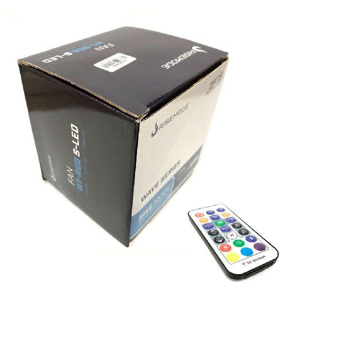 Kit Fan Gamer Rise Mode Wave RGB Energy 3 Fans W1-RGB S-LED