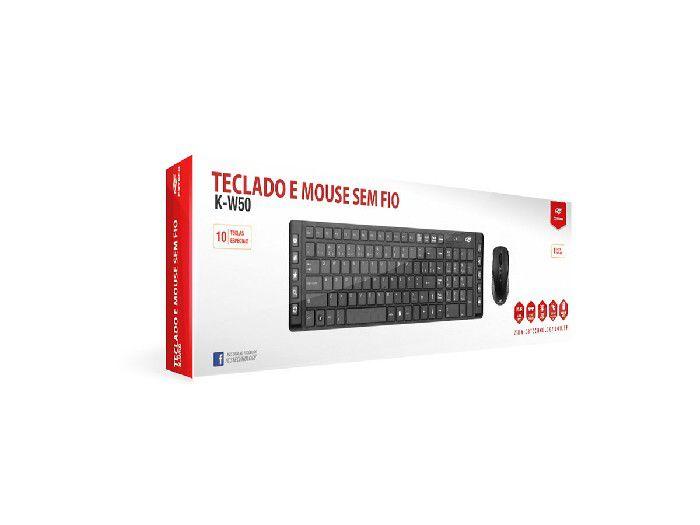 Kit Teclado+Mouse C3Tech Wireless K-W50BK