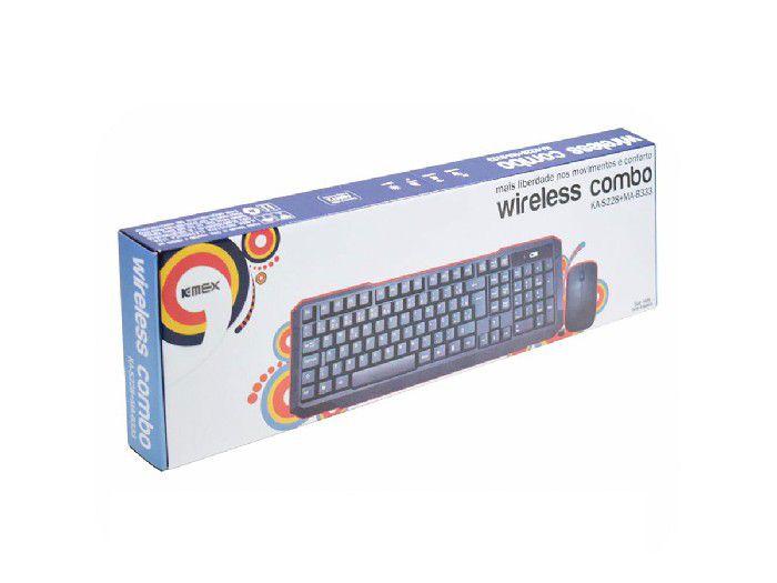 Kit Teclado+mouse K-mex Wireless Ka-s228 + Ma-b333 Preto