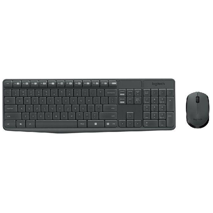 Kit Teclado + Mouse Logitech Wireless MK235