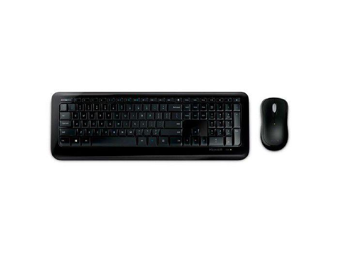 Kit Teclado+Mouse Microsoft Wireless 850 Preto - PY9-00021