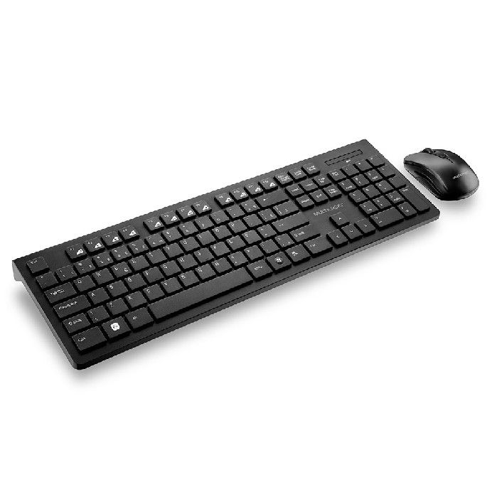 Kit Teclado + Mouse Multilaser Wireless Multimidia TC212