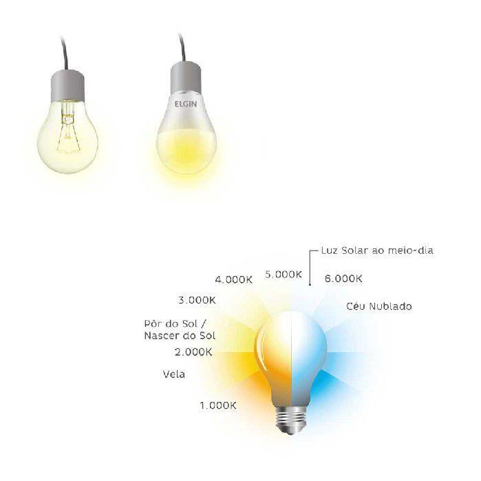 Lâmpada Bulbo LED A60 9W / Bivolt / 6500K / YU, Elgin - 48BLEDBF09YU