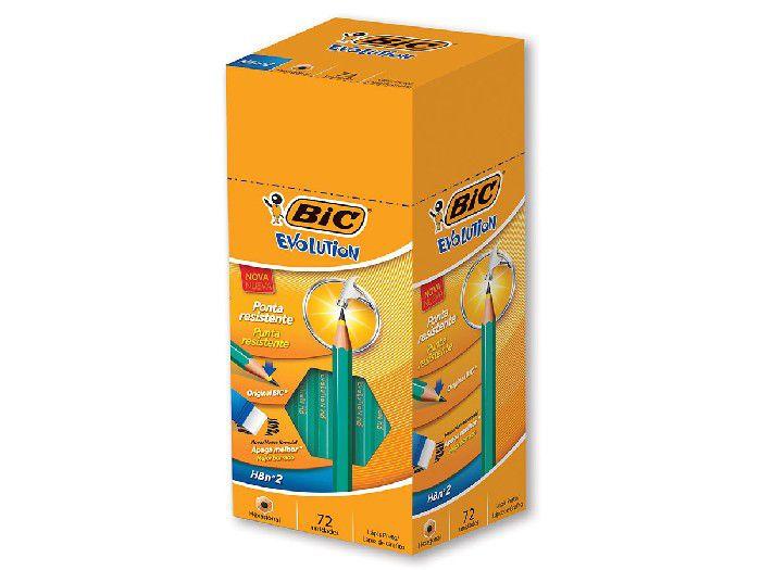 Lápis Bic Evolution Hexagonal, Sem Borracha, Contém 72 Unidade, Bic - 840641