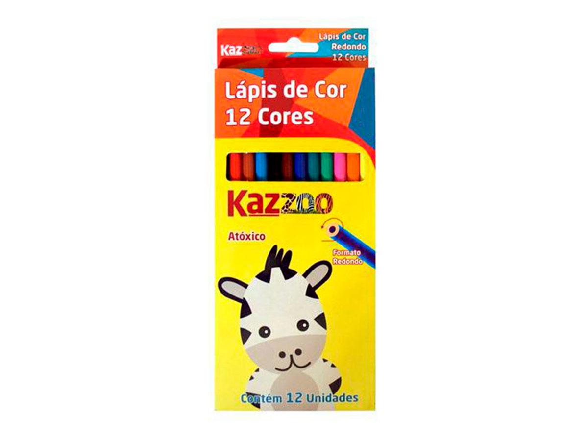 Lápis de Cor 12 Cores Caixa Com 06 Unidades Kaz - 708873