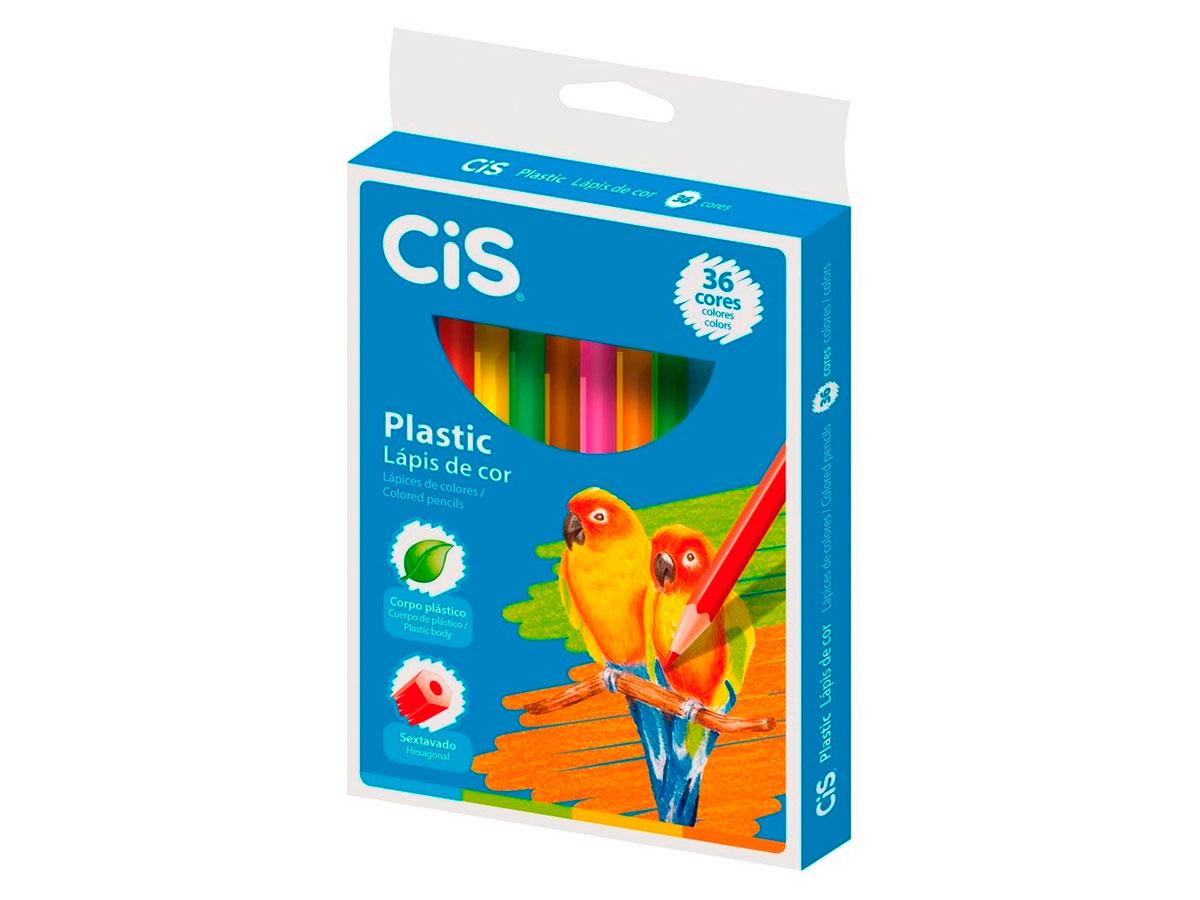 Lápis de Cor 36 Cores Plastic, Cis - 530801