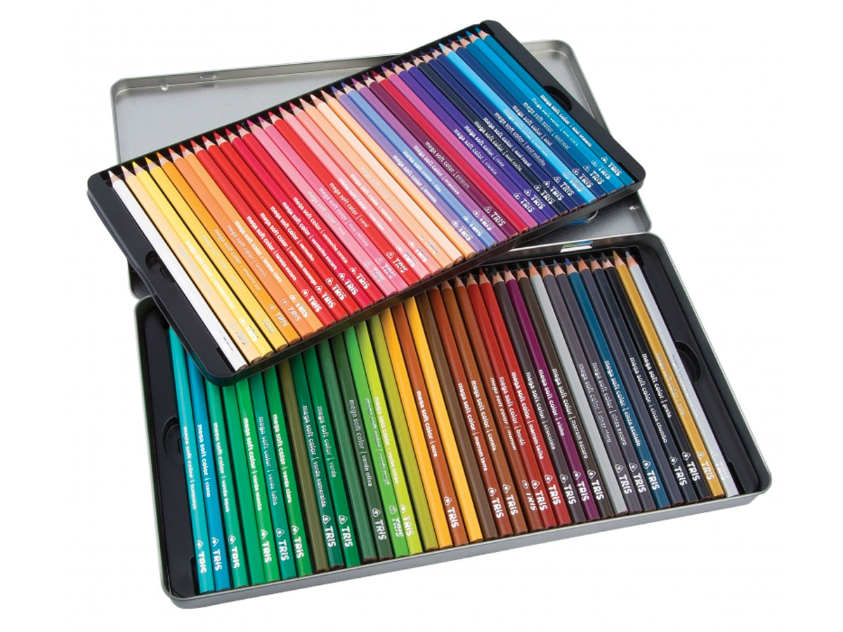Lápis de Cor Mega Soft Color 72 Cores Em Lata - Tris - 687247