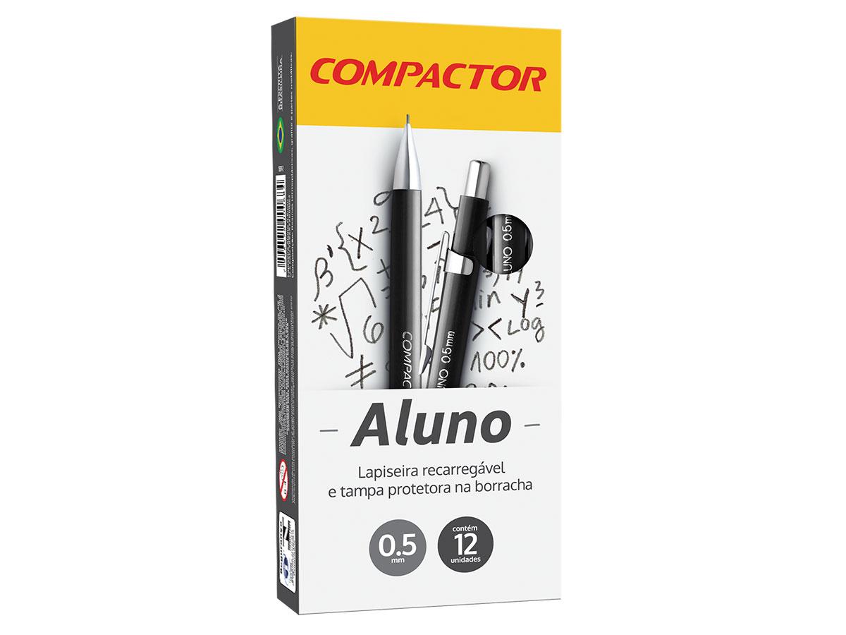 Lapiseira Aluno 0.5 mm, Caixa C/ 12 Unidades, Compactor