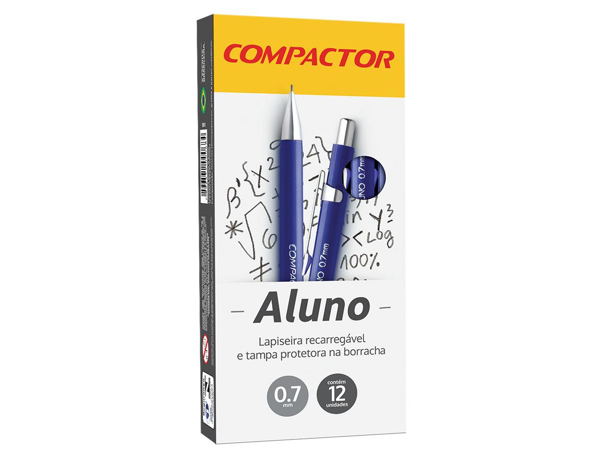 Lapiseira Aluno 0.7 mm, Caixa C/ 12 Unidades, Compactor