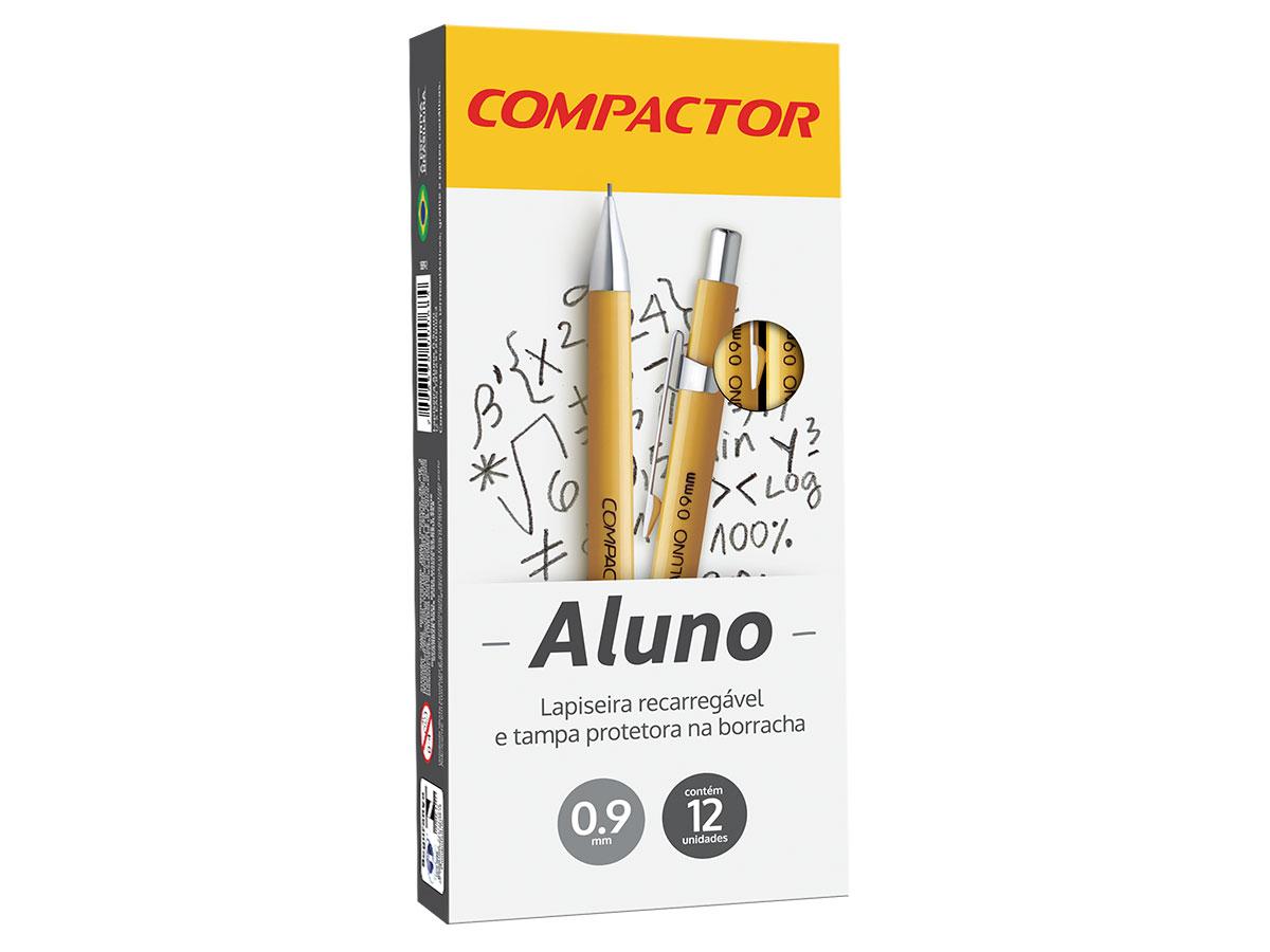 Lapiseira Aluno 0.9 mm, Caixa C/ 12 Unidades, Compactor
