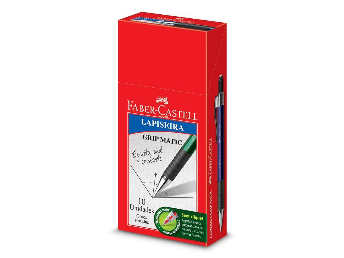 Lapiseira Grip Matic 0.7 mm, Caixa C/ 10 Unidades, Faber Castell - LP07GM