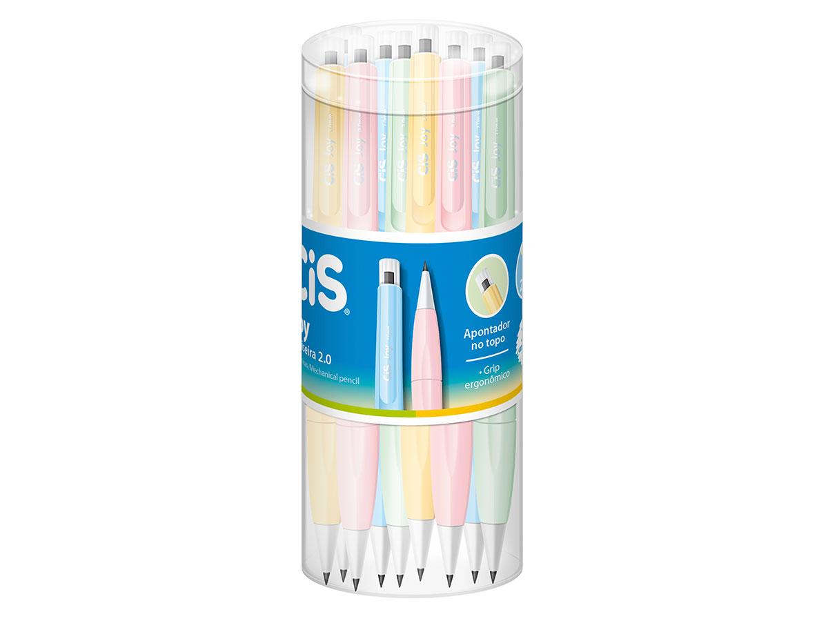 Lapiseira Joy 2.0 Tons Pasteis, Pote C/ 24 Unidades - Cis - 567400