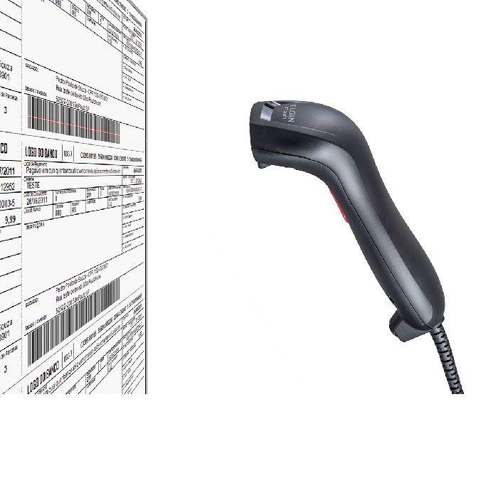 Leitor de Código de Barras Scanner CCD Flash USB Elgin DCR2017-04577-7 - 46FLASHCKD00 - Preto