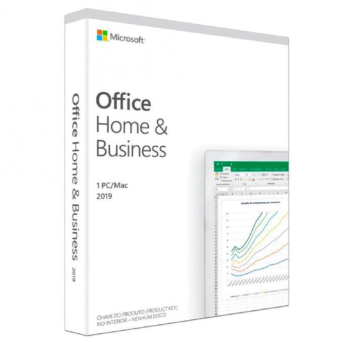 Licença Office 2019 Home & Business FPP 32/64 Bits T5D-03241 - Windows ou MacOS