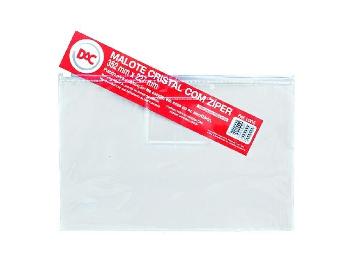Malote Com Ziper Slide / PVC / 352 x 227 Mm, Pacote C/ 5 Unidades, Dac - Cristal