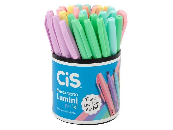 Marca Texto Lumini Tons Pastel Cores Sortidas, Pote C/ 36 Unidades - Cis - 569700