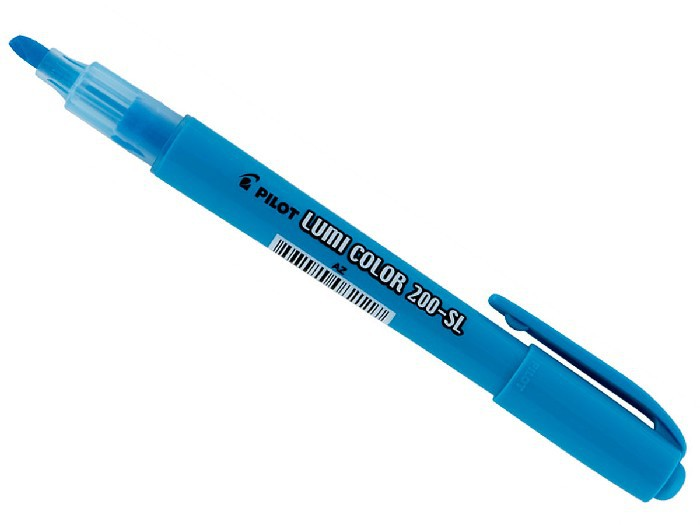 Marcador de Texto Lumi Color Azul Caixa Com 12 Unidades Pilot - 1440002AZ