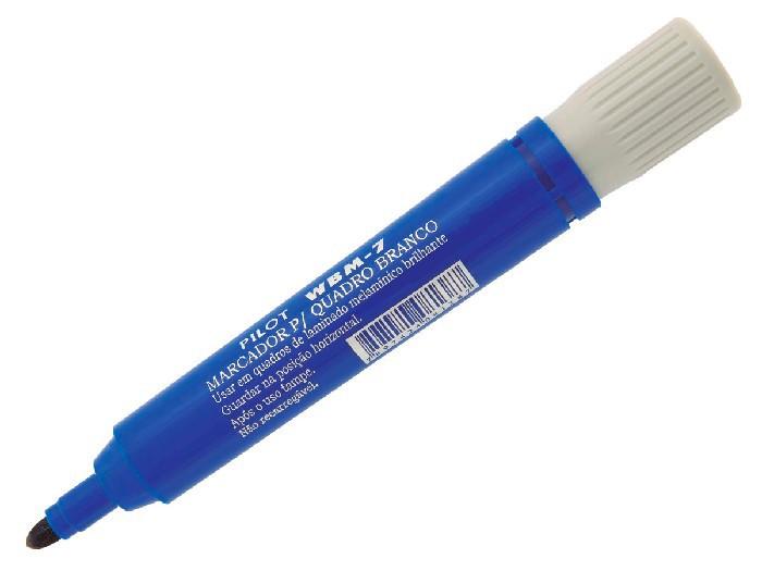 Marcador Para Quadro Branco WBM-7 Azul Caixa Com 12 Unidades Pilot - 1450001AZ