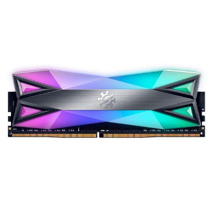 Memória Gamer 8GB Adata Xpg Spectrix D60 DDR4 3000MHz RGB AX4U300038G16A