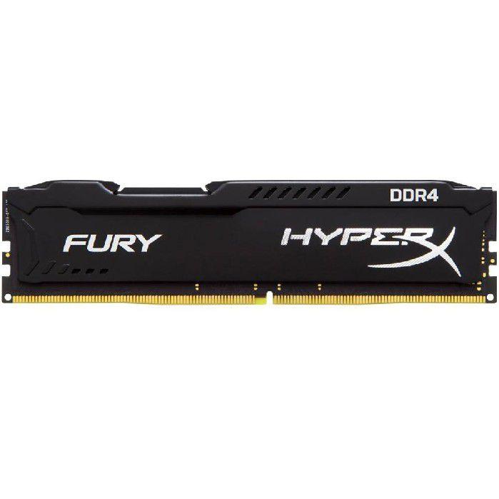 Memória 8GB DDR4 2400MHZ Kingston Hyperx Fury Black HX424C15FB/8