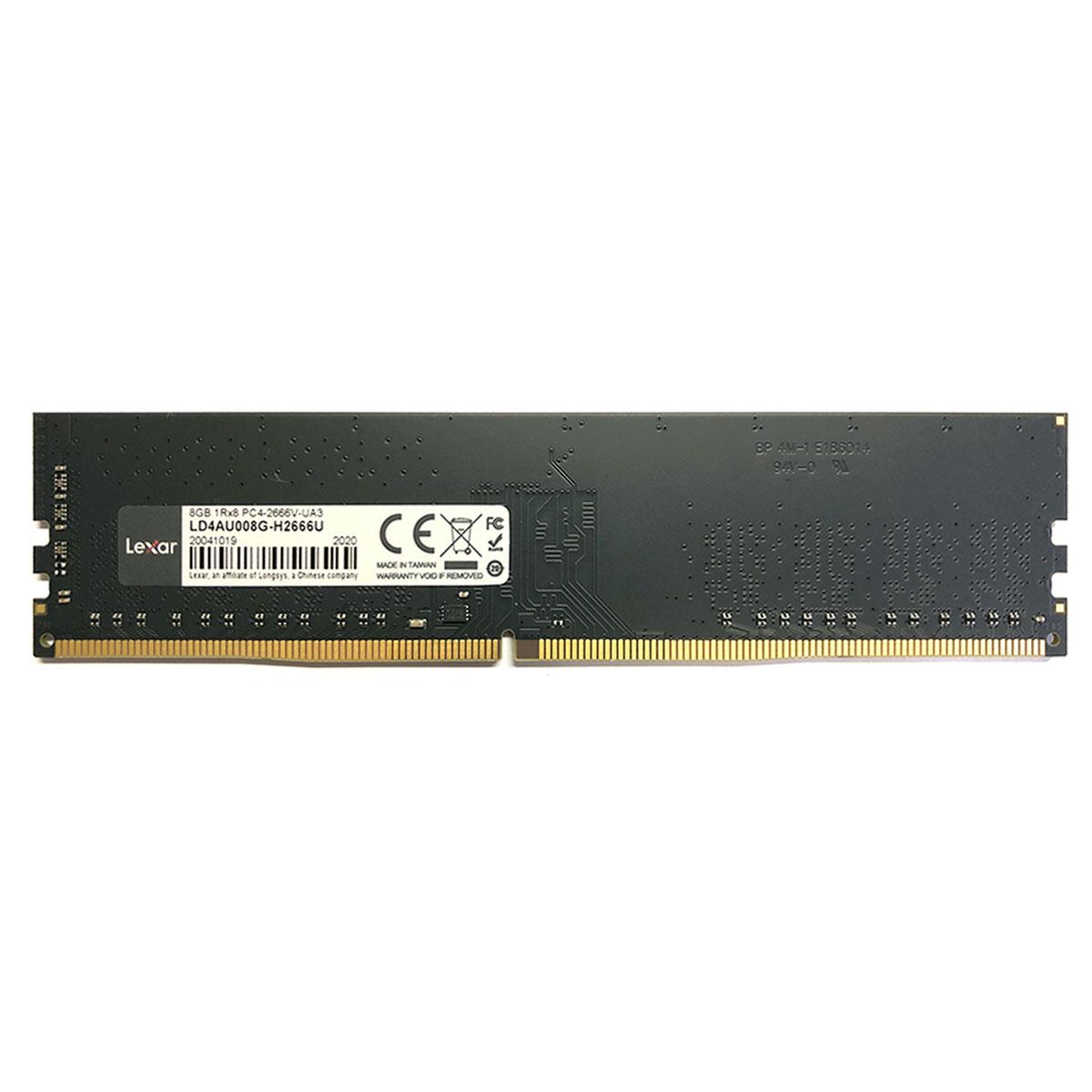 Memória 8GB Lexar DDR4, 2666MHz, CL19 - LD4AU008G-R2666U