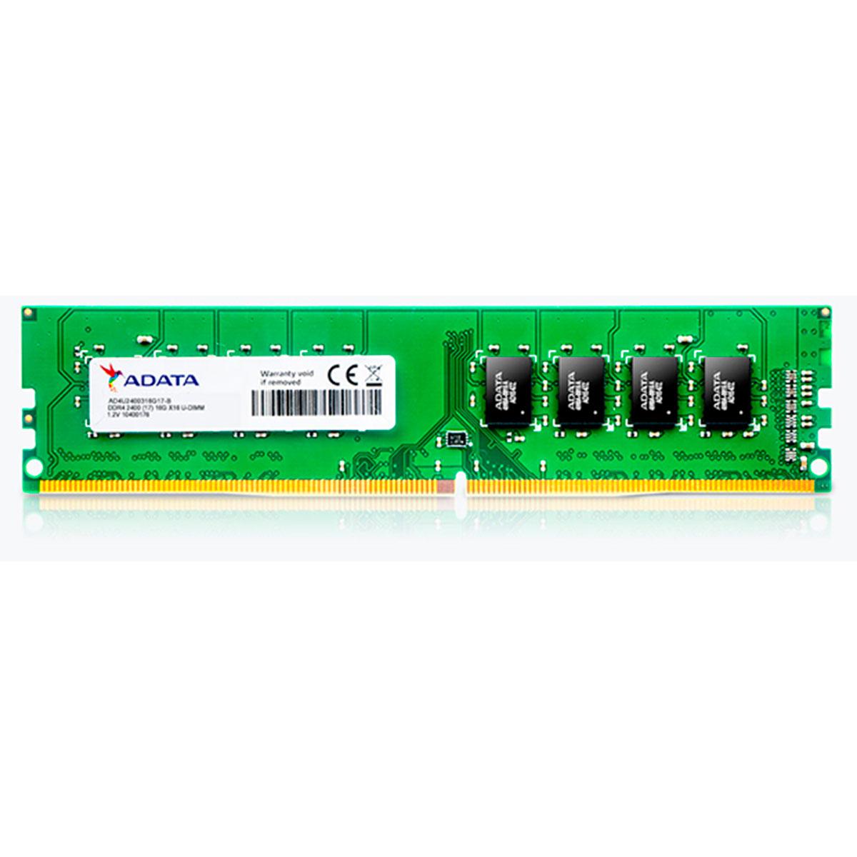 Memória Adata 4GB DDR4 2400MHz  - AD4U2400W4G17-S