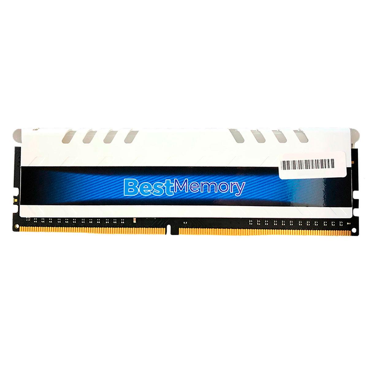 Memória Gamer 16GB Best Memory Highlander RGB, DDR4, 3000MHz, CL15 - BT-D4-16G 3000DW-RGB - Branca