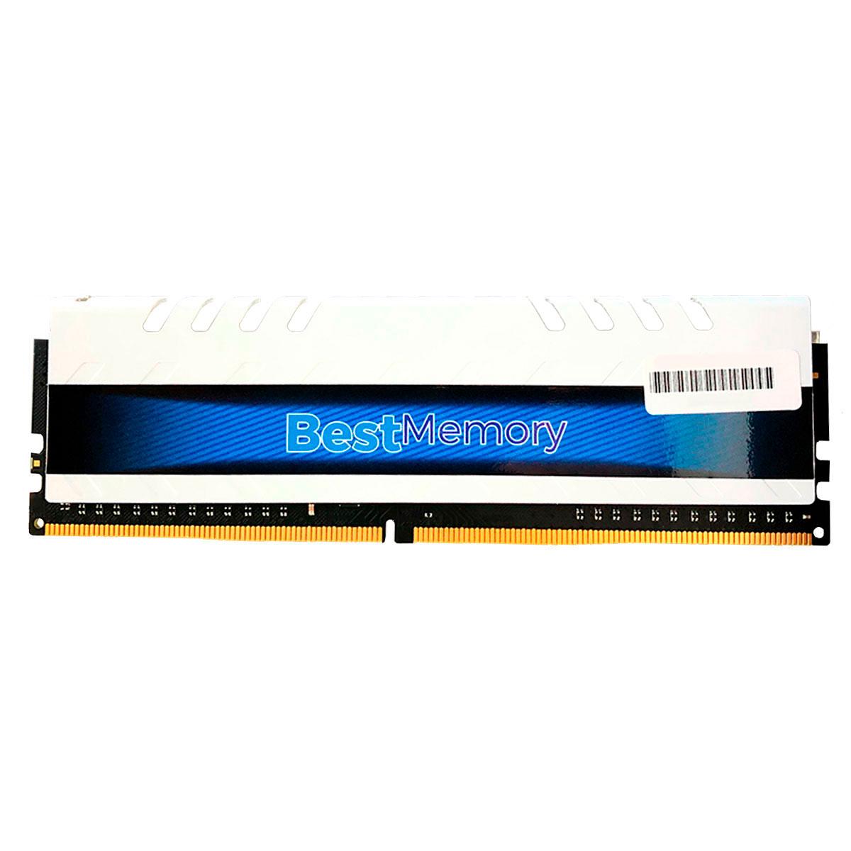 Memória Gamer 8GB Best Memory Highlander, DDR4, 3000MHz, CL15 - BT-D4-8G-3000D White