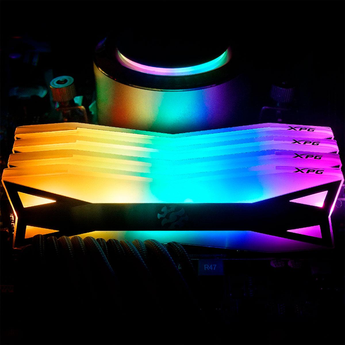 Memória Gamer Adata XPG Spectrix D60 8GB DDR4 3000MHz RGB AX4U300038G16A