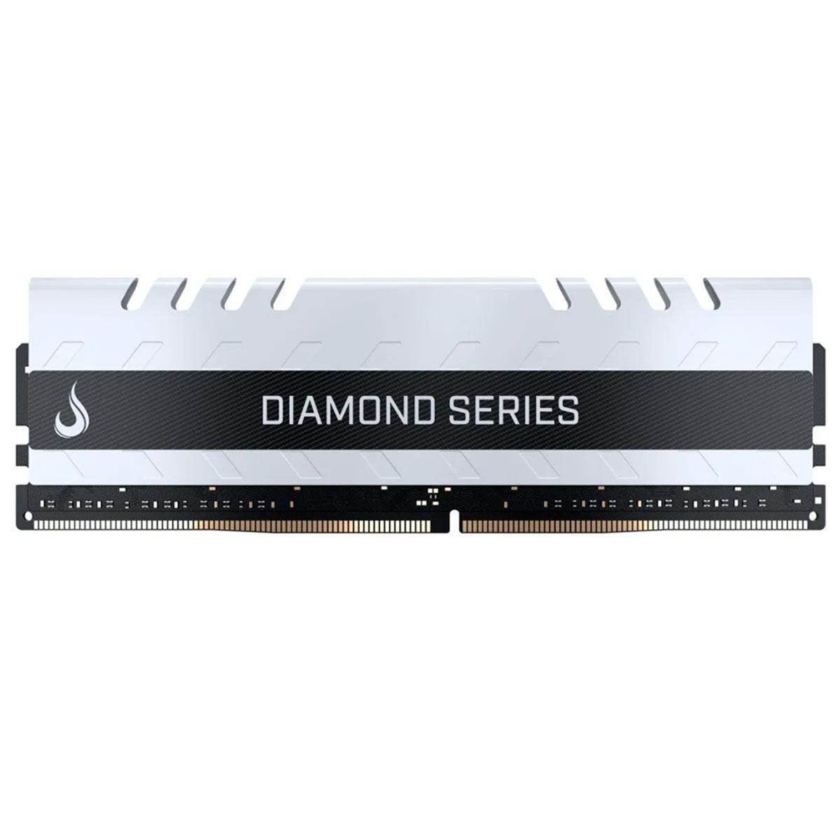 Memória Gamer Rise Mode Diamond 8GB, DDR4, 2400MHz, CL15, Branca - RM-D4-8G-2400D WHITE
