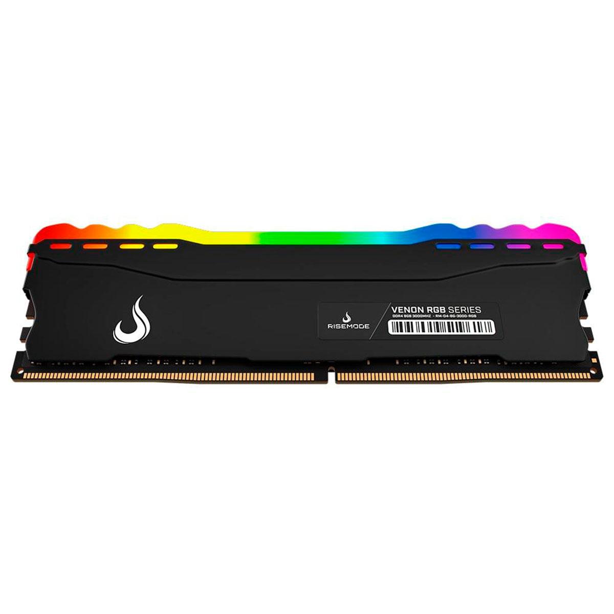 Memoria Gamer Risemode Venon 8GB DDR4 3000Mhz RGB RM-D4-8G-3000-RGB