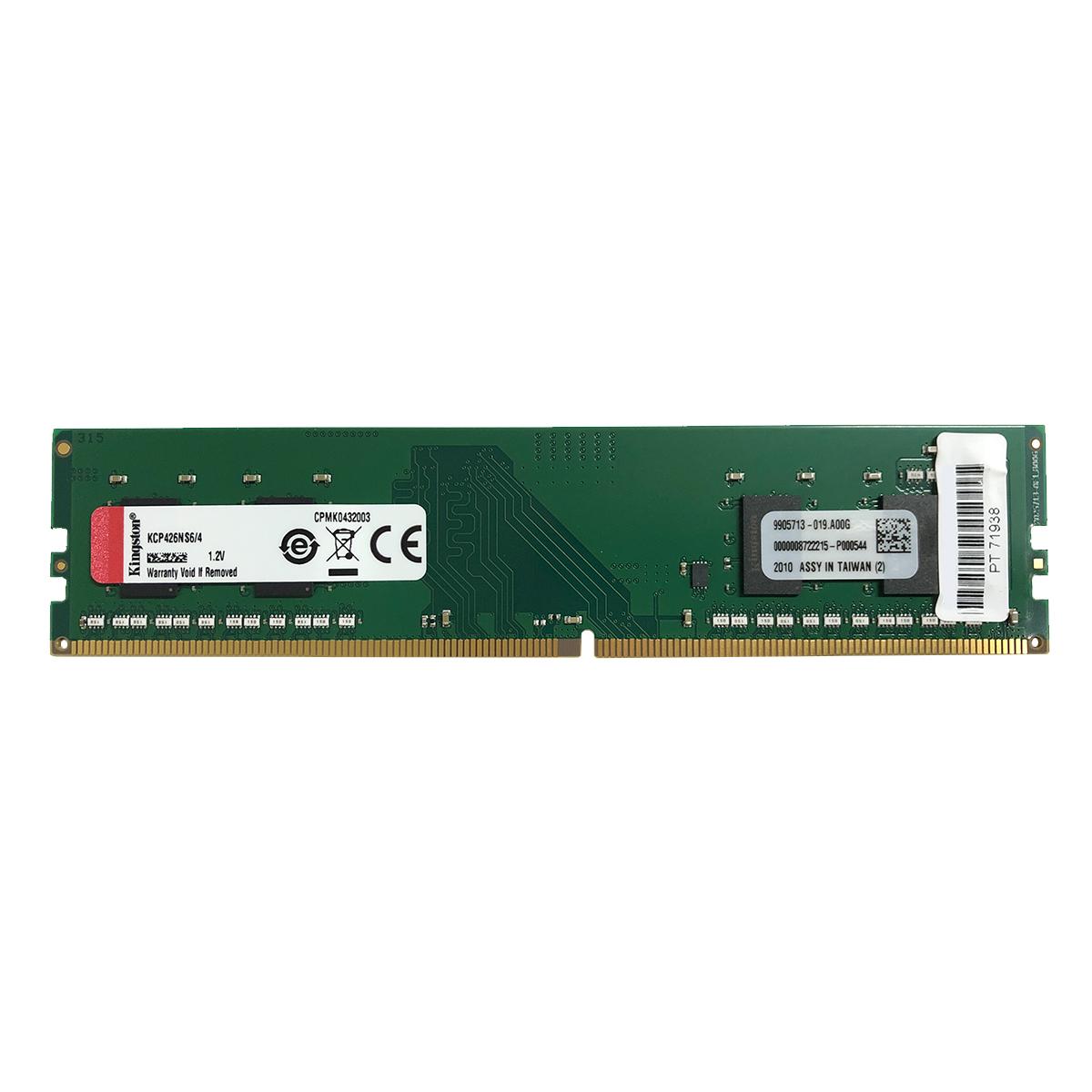 Memória Kingston 4GB DDR4 2666MHz CL19 - KCP426NS6/4