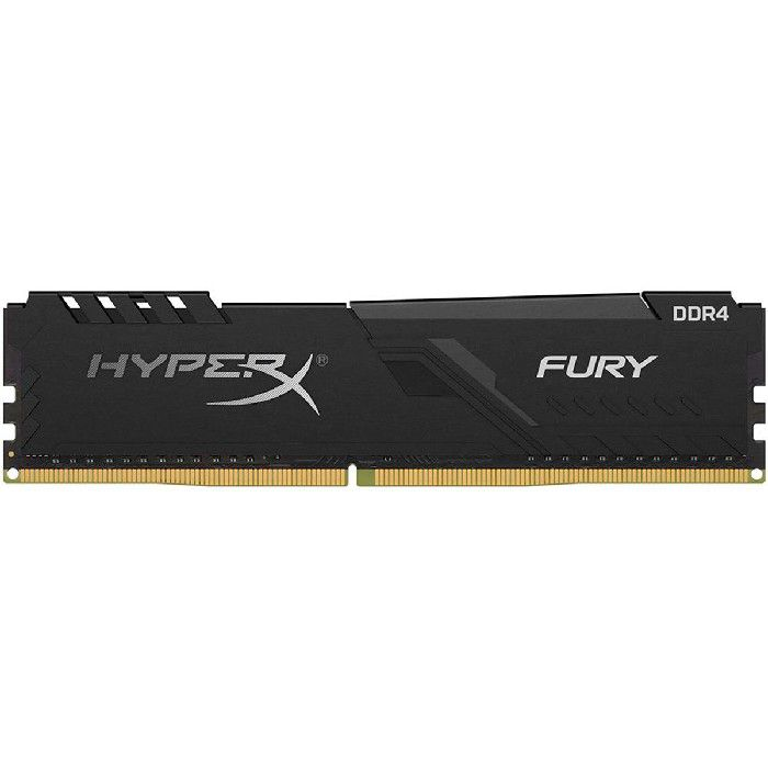 Memória Kingston HyperX Fury Black 8GB DDR4 2400MHz DDR4 CL15 - HX424C15FB3/8