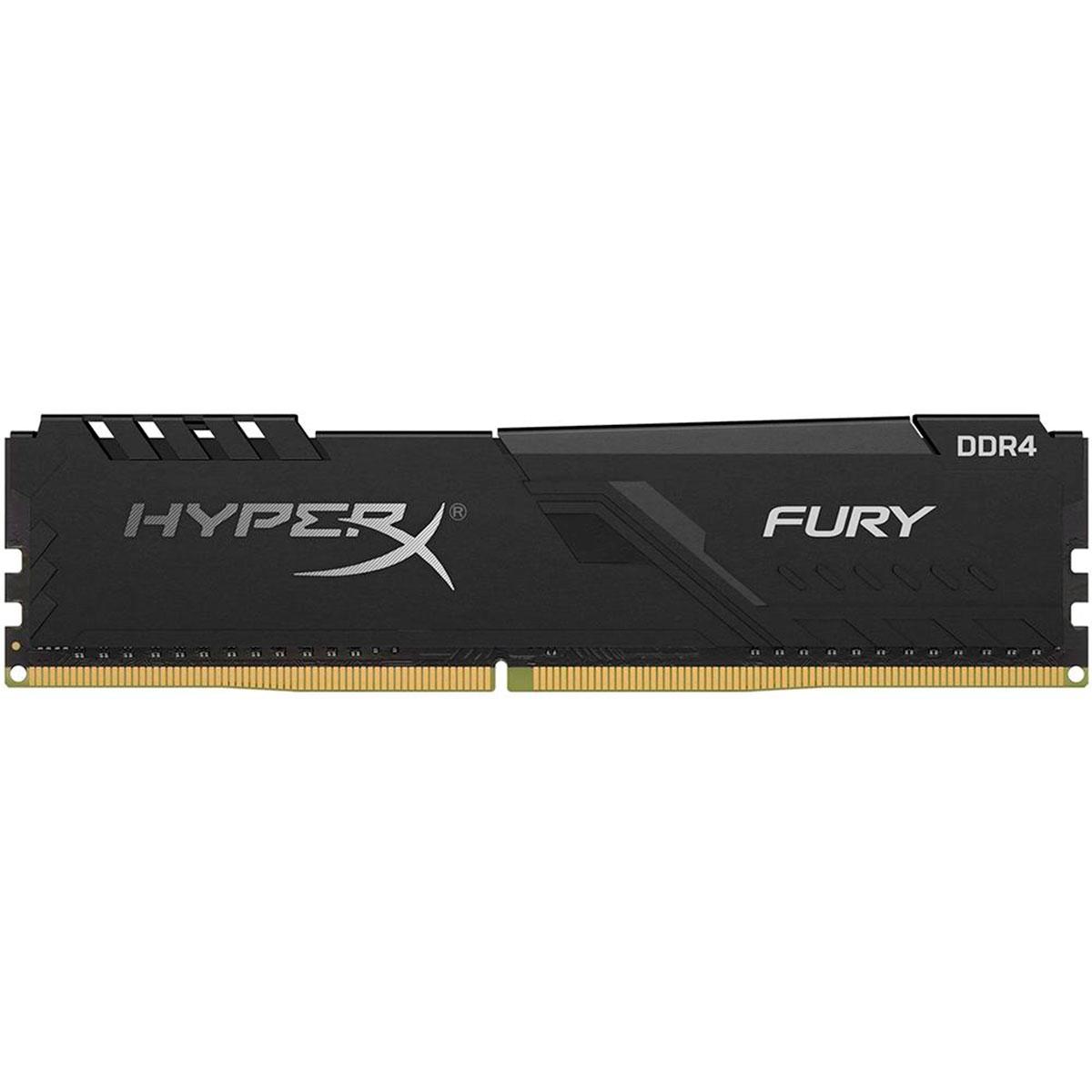 Memória Kingston HyperX Fury Black 8GB DDR4 2400MHz DDR4 CL15 - HX424C15FB3/8