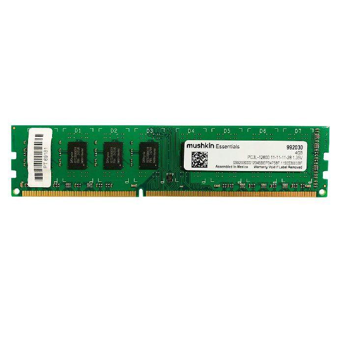 Memória Mushkin Essentials 4GB DDR3 UDIMM 1600MHz PC3L-12800 1.35V CL11  - 992030