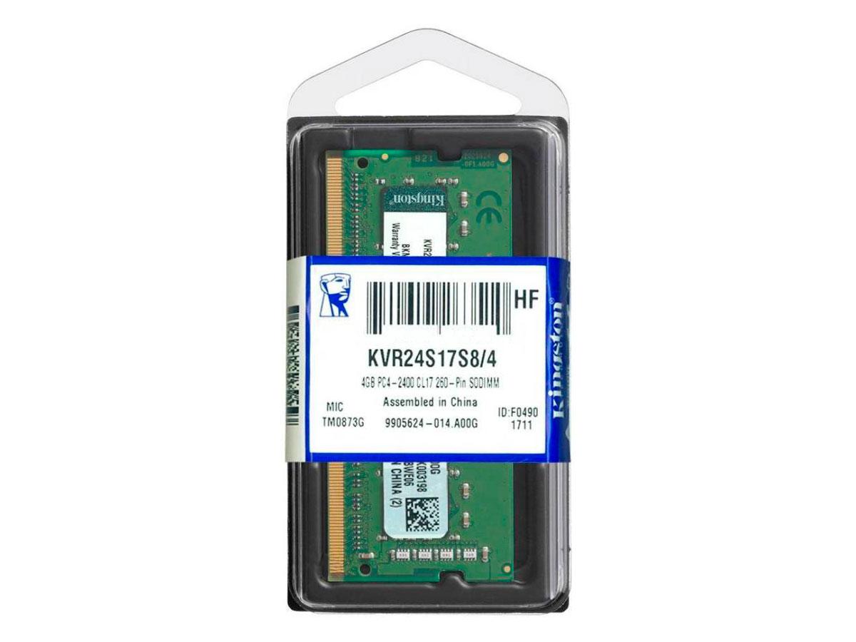 Memoria P/notebook 4GB DDR4 2400Mhz Kingston KVR24S17S8/4