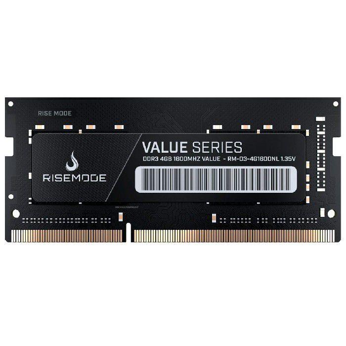 Memória P/notebook Rise Mode 4GB DDR3L 1600Mhz RM-D3-4G1600NL