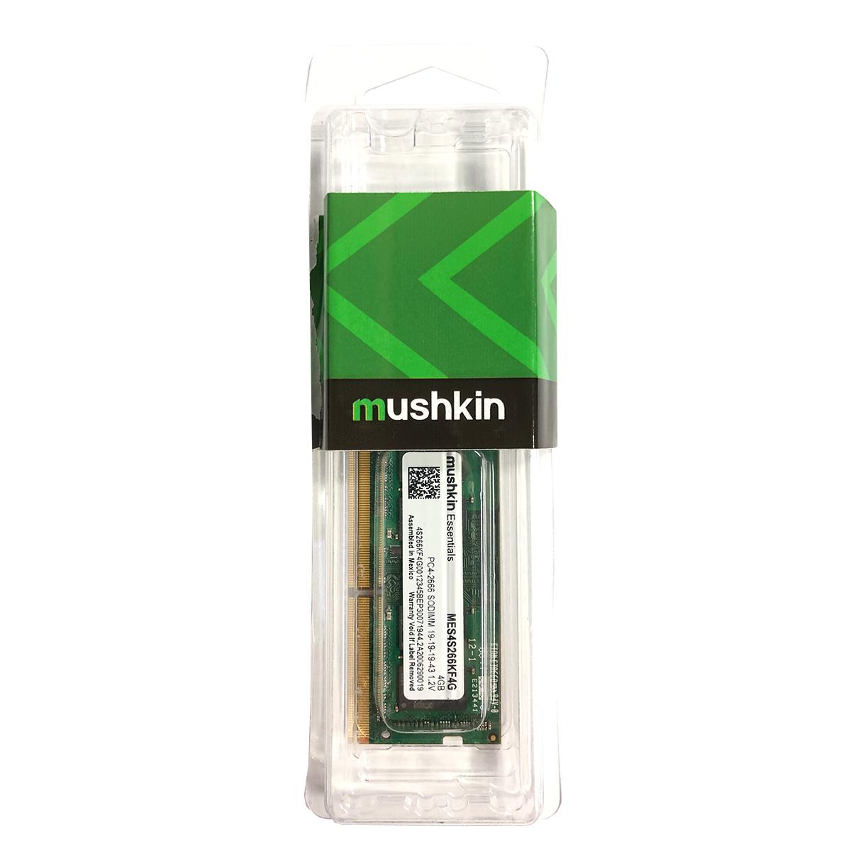 Memória para Notebook 4GB Mushkin Essentials MES4S266KF4G DDR4 2666MHz CL19