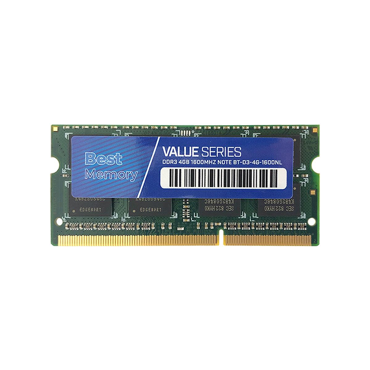 Memória para Notebook Best Memory 4GB, DDR3, 1600MHz - BT-D3-4G-1600NL