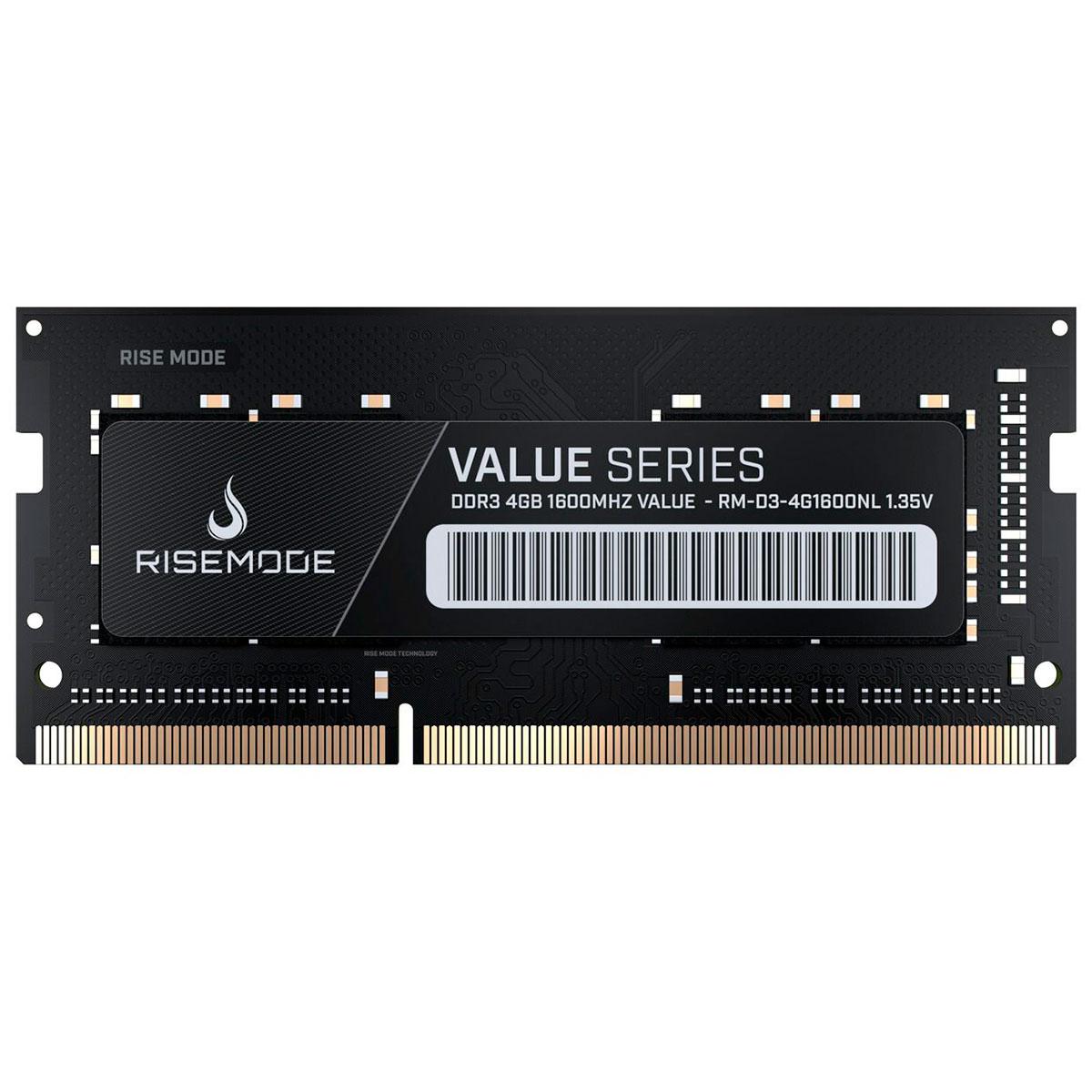 Memória Para Notebook Rise Mode RM-D3-4G1600NL, 4GB, DDR3L, 1600MHz