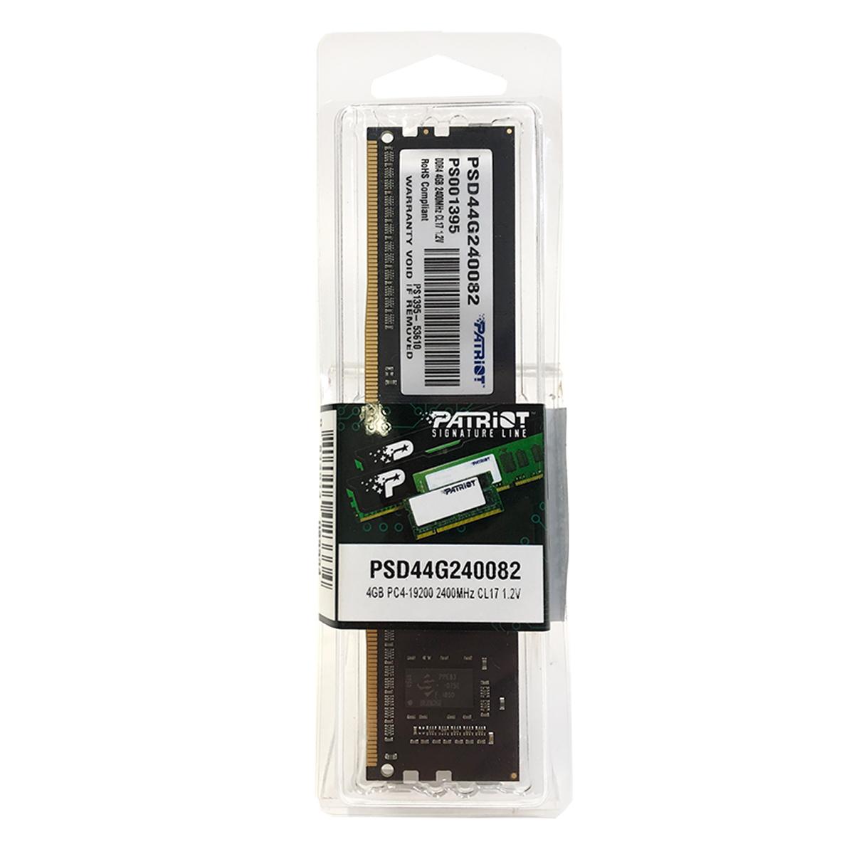 Memória Patriot Signature Line 4GB DDR4 2400MHz CL17 - PSD44G240082